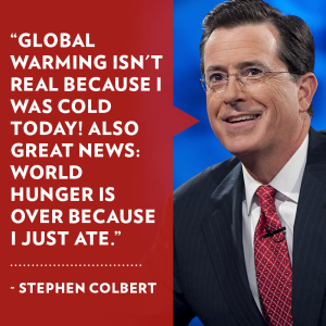 Colbert Global Warming